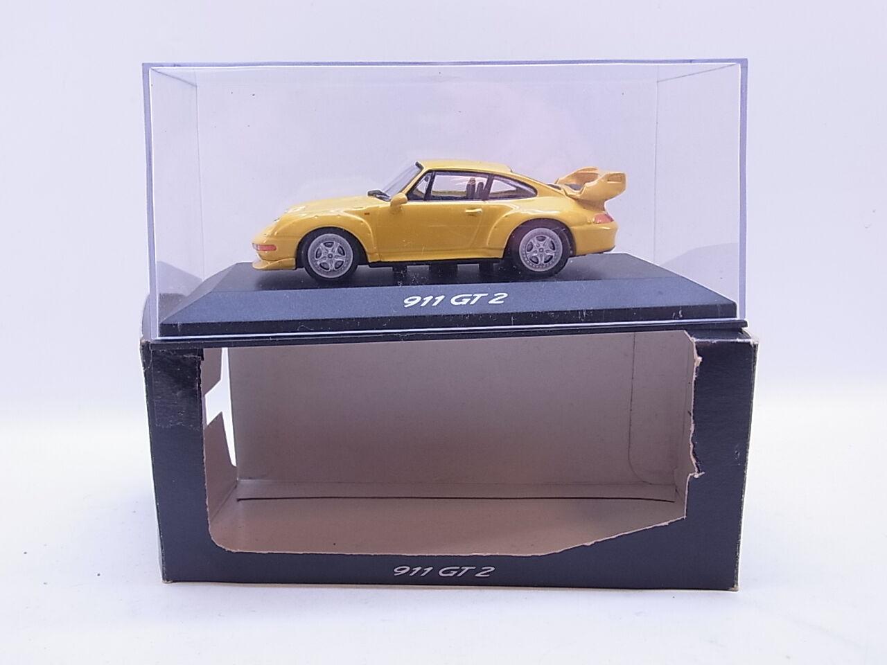 LOT 40699 Minichamps Porsche 911 GT2 Typ 993 gelb Modelauto 1 43 in OVP