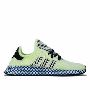Details about Men's adidas Originals Deerupt Runner Breathable Lightweight Trainers in Yellow