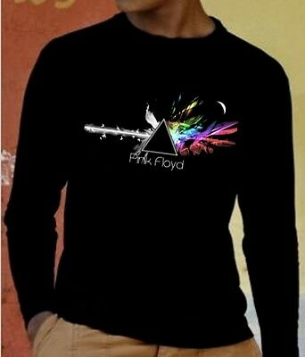 PINK FLOYD DARK SIDE OF THE MOON 2 Long Sleeve New T-shirt  Rock Band Shirt