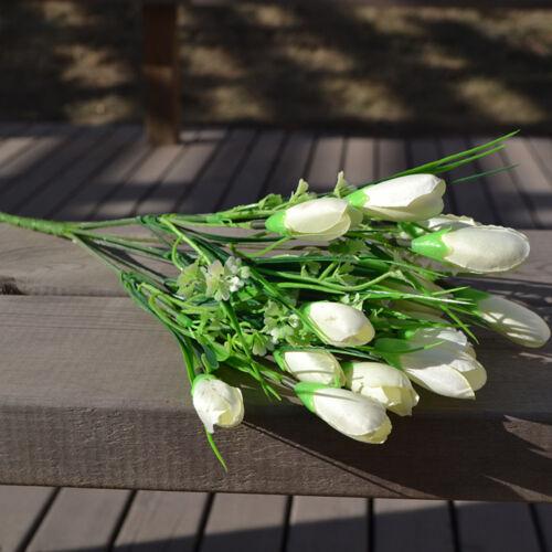 Artificial Tulip Flower 1 Bouquet 12 Heads Fashion Floral Decoration Vase Bunch