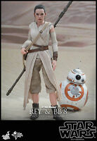 Rey & Bb8 Hot Toys 1/6 Star Wars Force Awakens Daisy Ridley In Stock Mega Sale
