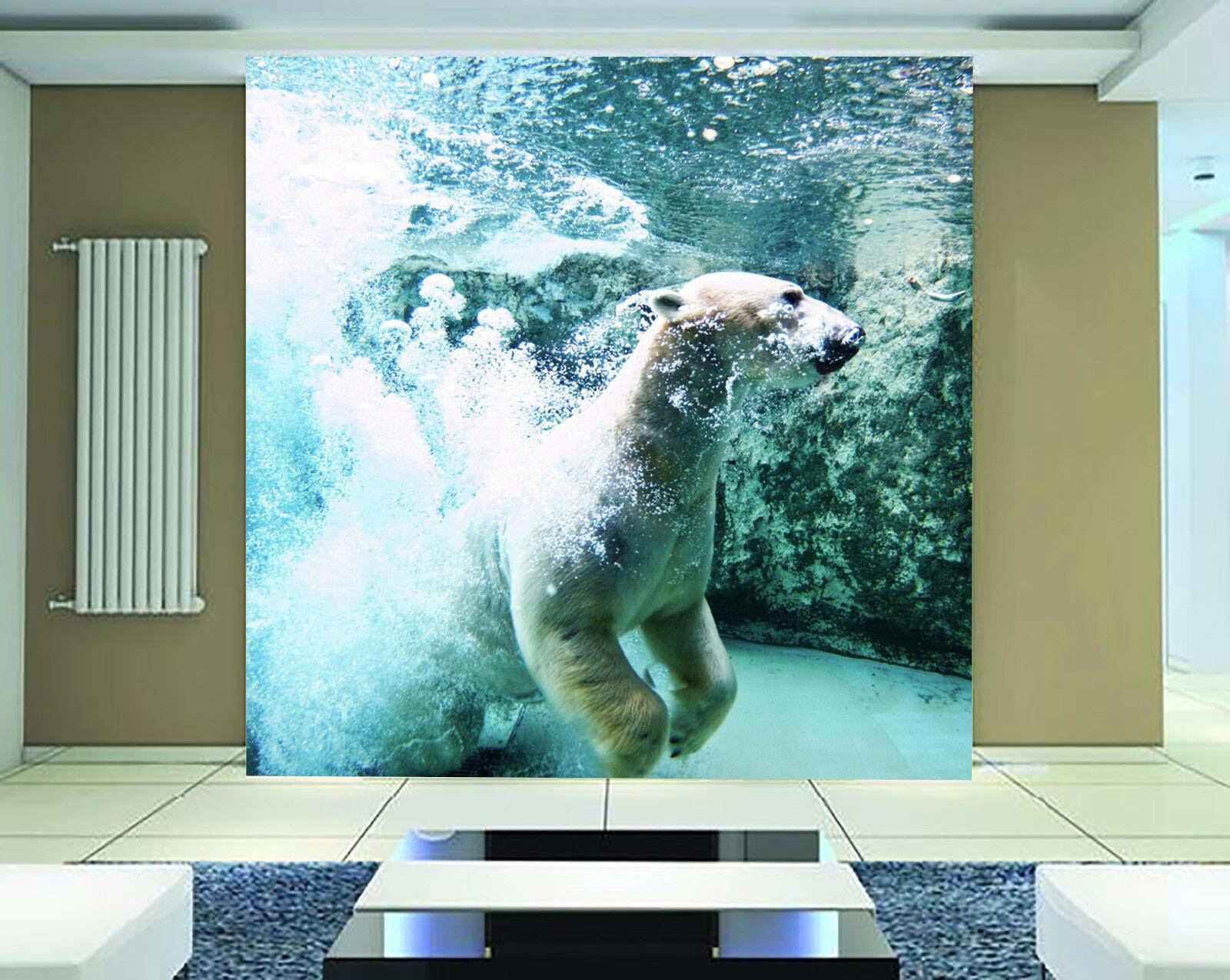 3D Ice Sea Bear 754 Wall Paper Murals Wall Print Wall Wallpaper Mural AU Kyra