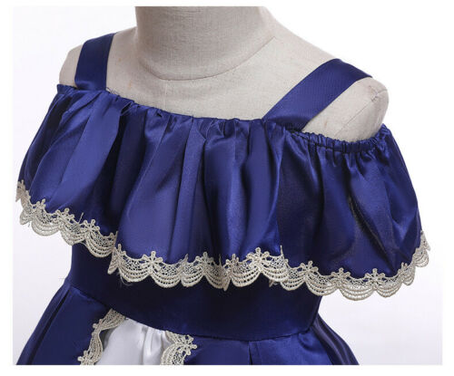 Elegant Kids Girls Dress Toddler Princess Party Birthday Wedding Dress ZG9