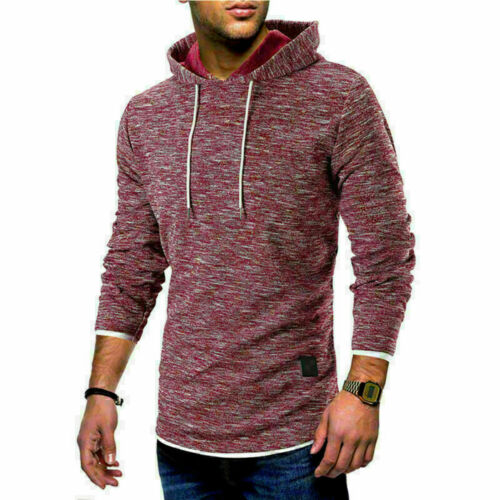 Fashion Men/'s Fleece Warm Hoodie Hooded Camouflage Sweatshirt Pullover Coat Tops