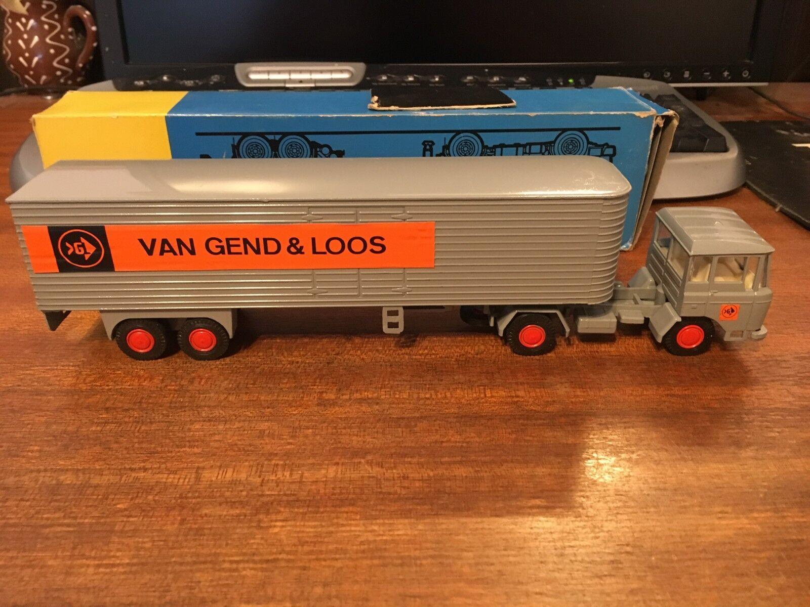 LION AUTO 1/50 SCALA Nr.36 DAF 2600 TREKKER eurotrailer-Van Leggenda & Loos