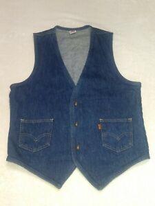 Vintage Levi\u2019s Sherpa lined denim vest  Custom made /& Hand dyed  Large