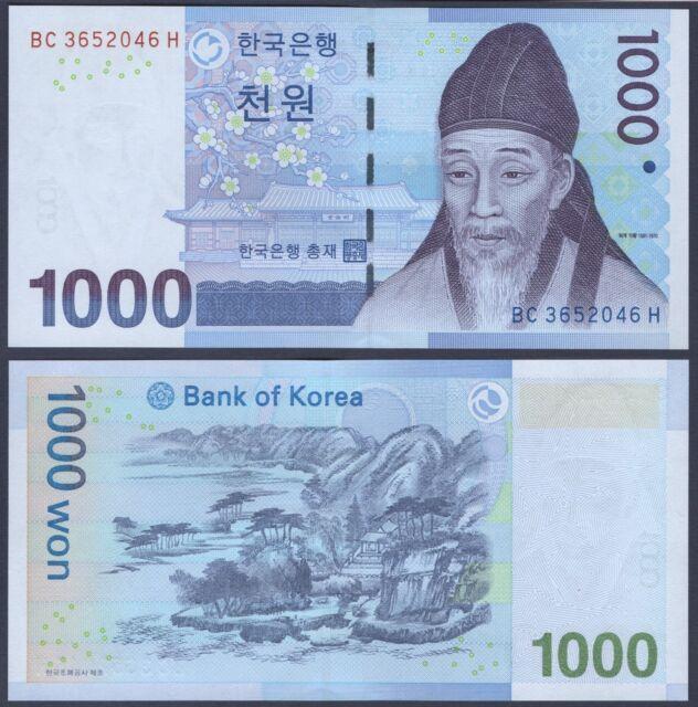 SOUTH KOREA  P54***1000 WON***ND 2007***UNC GEM***USA SELLER