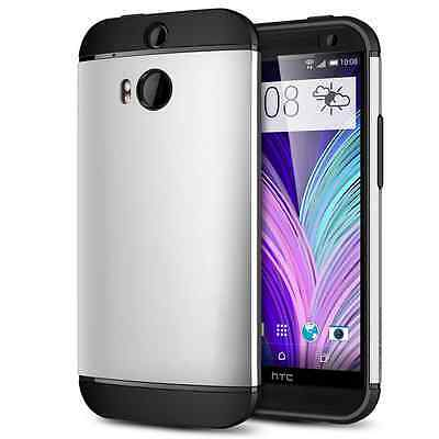 New Arrival Hybrid Rubber Shockproof Bumper Phone Cover Case for HTC ONE M8