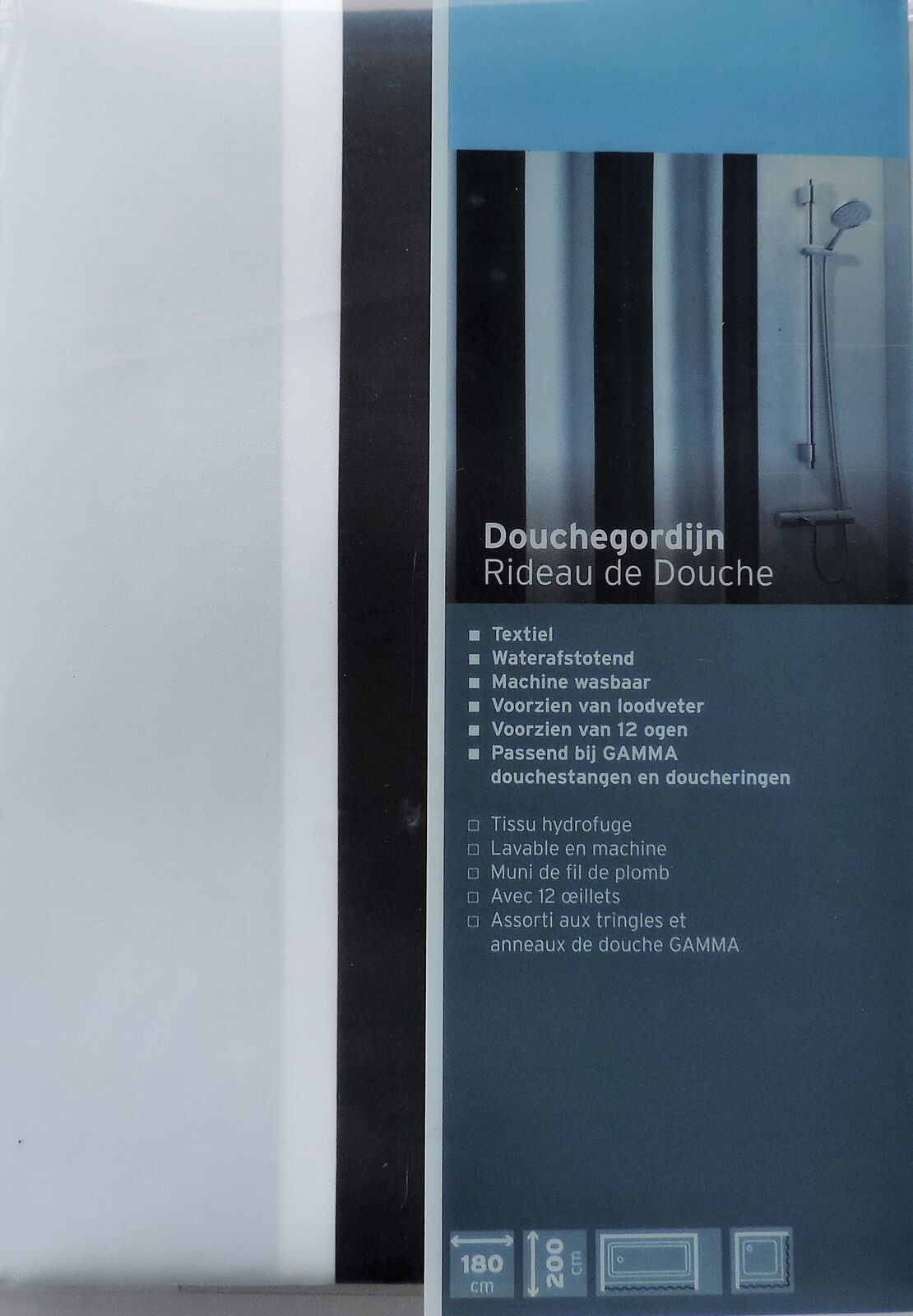 Loodveter 100 Gram.Buy Extra Long Shower Curtain 72 X 78 Inch Gamma Black And White