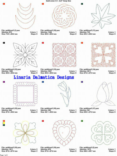 QUILTING LINES V.3 LD MACHINE EMBROIDERY DESIGNS
