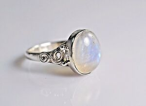 Rainbow-Moonstone-Ring-925-Solid-Sterling-Silver-Handmade-Jewelry-US-RBM-026