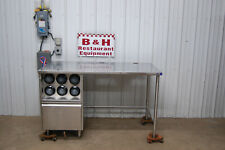 61 X 30 Stainless Steel Heavy Duty Work Table With Ice Bin Cup Holders 51