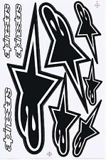 Black alpinestars logo Moto-GP Helmet Vinyl Sticker Car Bike Truck Kits Decals