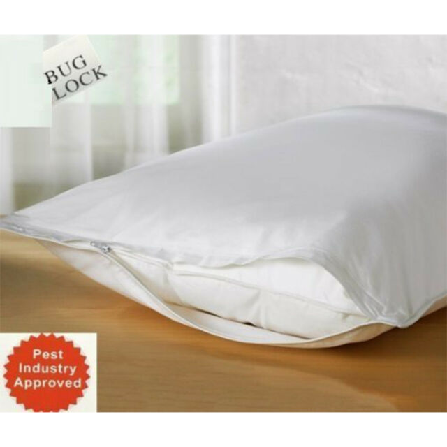 """Bed Pillows Protector Set of 2 King Size Hypoallergenic Microfiber Sleep 36""""x20"""""""