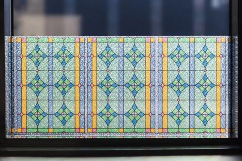 Film De Fenêtre Pare-vue Abbey Coloré Givré statique vintage au mètre