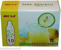 10 Co2 8 Gram Soda Chargers 8g C02 Seltzer Cartridges Sparklet Carbonated Mosa
