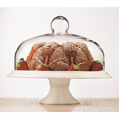 Brilliant - Bianco Pedestal Cake Plate and Dome 30cm