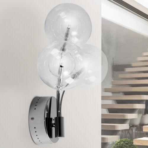 Wand Leuchte 3x Glas Kugel Design Beleuchtung Metall Lampe Brilliant MYSTIQUE