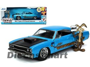Jada 1:24 Hollywood Rides Looney Tunes 1970 Plymouth Road Runner & Wile E Coyote