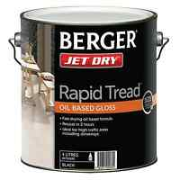 Berger Jet Dry Rapid Tread Gloss Paint 4l Black, Oil Based For High Traffic Area