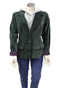 nuovo di zecca 7b0c5 2d844 Dettagli su Giacca di velluto doppiata con felpa da donna North Sails verde  grigia cappuccio