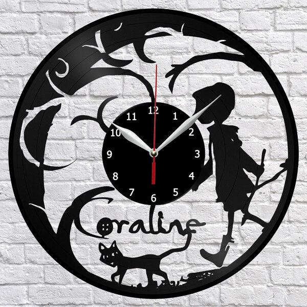 Coraline Cartoon Vinyl Record Wall Clock Fan Art Home Decor 12 30cm 1086 Ebay