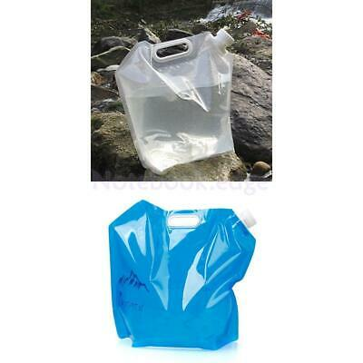 10L Folding Drinking Water Carrier Bag for Outdoor Camping Hiking BBQ //KT