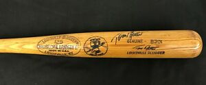 RARE-TOM-HUTTON-Phillies-signed-1976-Bicentennial-Louisville-Game-Used-Bat