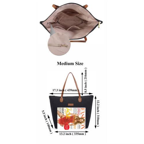 Med Size NNEE Water Repellent Light Weight Nylon Polyester Tote Bag Handbag
