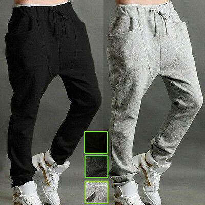 Mens Women Casual Harem Baggy Hip Hop Jogger Jogging Sweat Pants Slacks Trousers