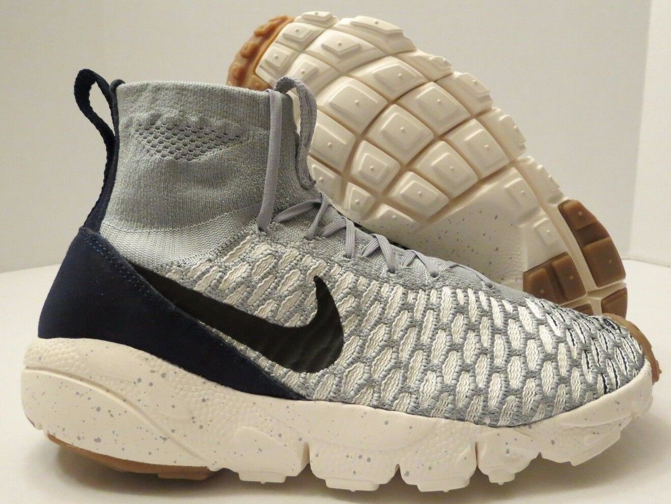 Nike Footscape Magista Flyknit 816560 001 Wolf Grey Obsidian Sail (MEN'S 10.5)