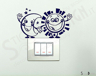 Adesivi Murali Wall Stickers Sole e Luna Adesivo Luna e Sole Sticker Cameretta