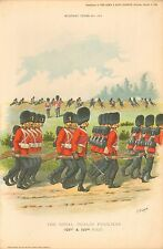 1896 Richard Simkin Military Print, 106 Royal Dublin Fusiliers (102nd & 103rd Fo