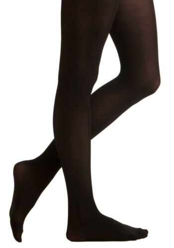 8-10 Lightweight Economy Black Girl/'s Size Medium Full Footed Tights