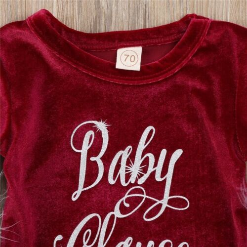Baby Romper Girls Christmas Clothes Outfits Xmas Outfit Dress Newborn Bodysuit