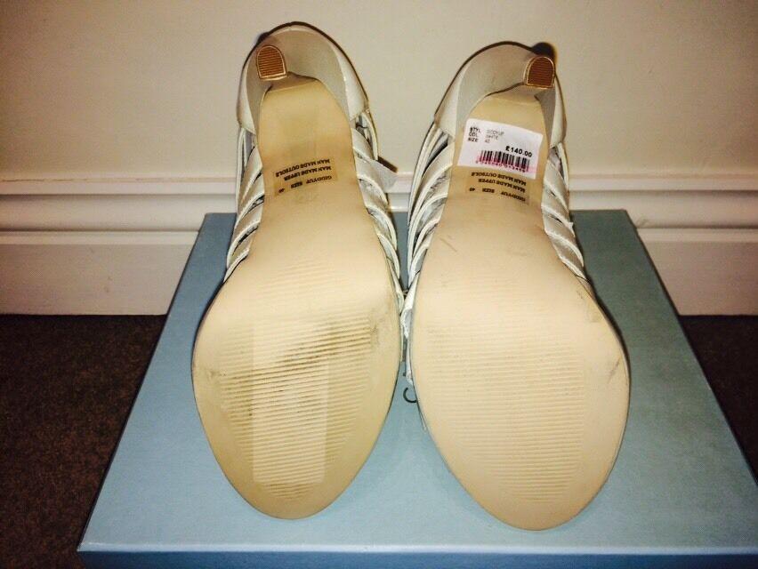 White Strappy Heels From Kurt Geiger Geiger Geiger Size 7 fd0604