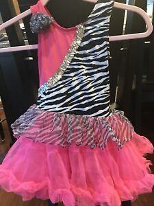 9165203a741c POPATU Girls Tutu Dress, size M pink, Animal Print, Sequins ...