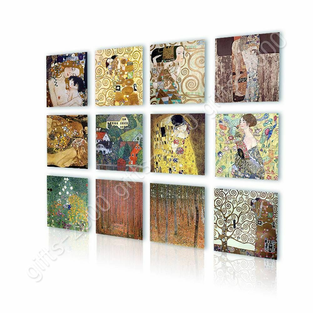 Kiss Tree Mother Lady by Gustav Klimt   Canvas (Rolled)   Set Of 12 Wall art