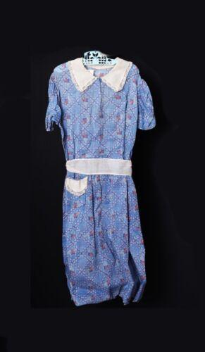 1930 Vintage Hand-Made Antique Girls Farm Dress Bl