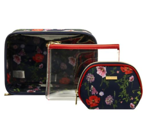 utterly stylish discount sale cute TED BAKER 2019 MAKE UP BAG SET 2 SIZES COSMETIC TRAVEL CASE WASH ...