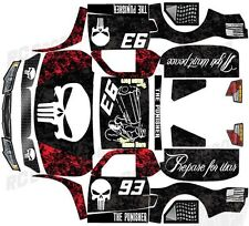 "LOSI 5IVE T 4WD TRUCK WRAP GRAPHIC DECAL STICKER KIT ""PUNISHER"" - PICK COLOR!"