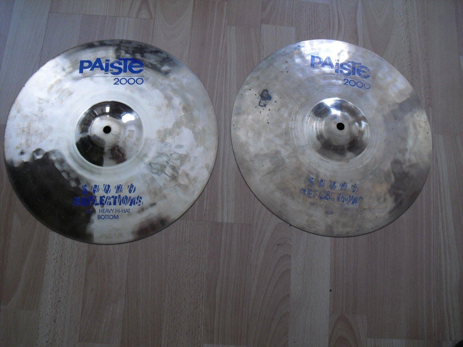 14  Paiste 2000 Sound Reflections Heavy Hi Hats HiHats Cymbals reflector finish