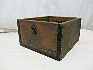 Details About Antique Vintage Wooden Box 11x10x6 Farm Fresh Handmade Shabby Chic Decor