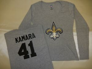 size 40 5ded9 ef943 Details about 9114 WOMENS New Orleans Saints ALVIN KAMARA