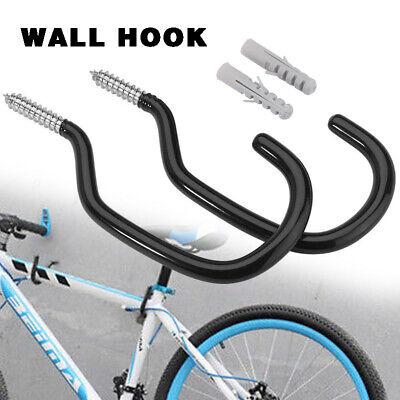 2 Pcs Heavy Duty Bicycle Ceiling Hooks Bike Storage Cycling Rack Wall Hanger