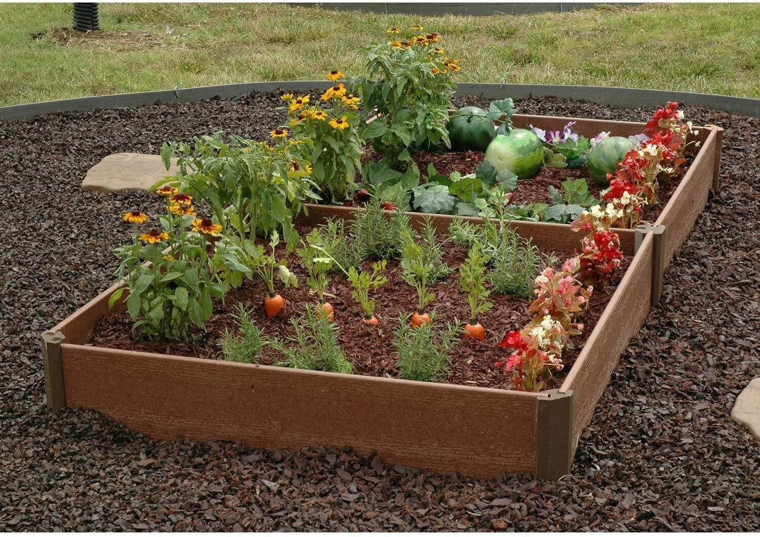 Picture of: Raised Garden Bed Kit 42 X 42 Outdoor Recycled Plastic And Wood Materials For Sale Online Ebay