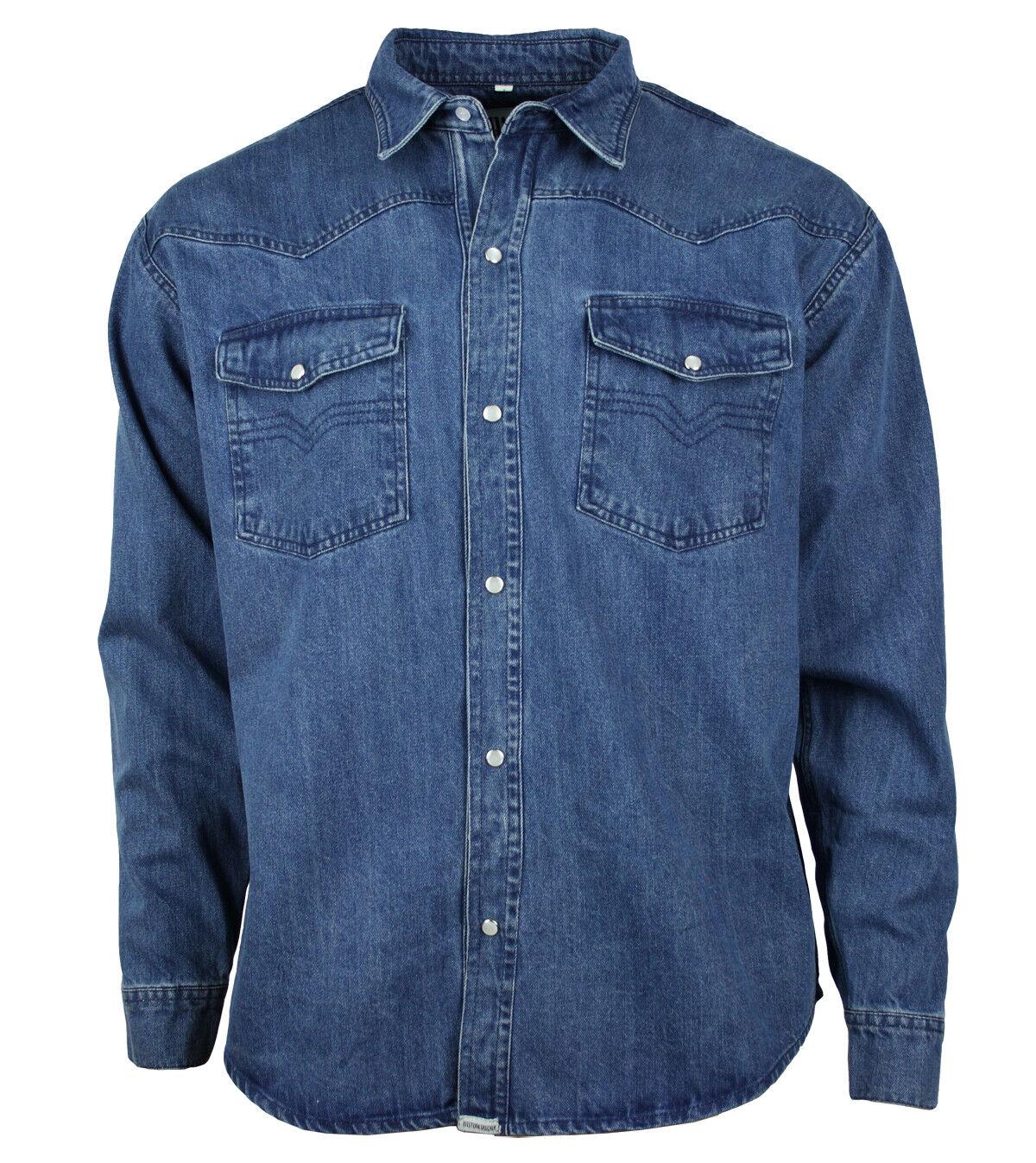 Western-memoria Denim ocio  jeans camisa algodón azul pulsadores s hasta 4xl  marcas en línea venta barata
