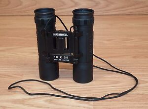 Bushnell-10-x-25-302-FT-AT-1000-YDS-Black-Compact-Spectator-Binoculars-READ