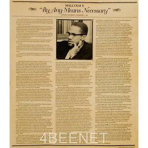 malcolm x by any means necessary speech