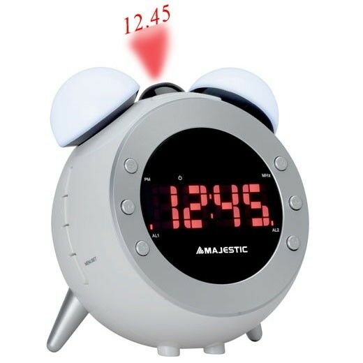 Radio sveglia digitale FM grande display LCD PROIEZIONE DELL'ORA A SOFFITTO PLL